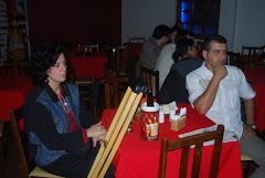 Carol Pereyr  e Márcio Pazin no Lua Nova