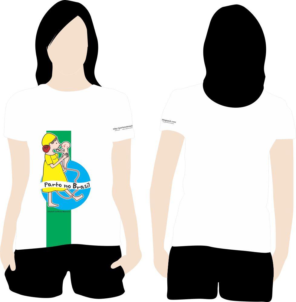 Desenho Para Camiseta   Parto No Brasil