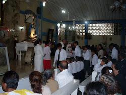 IGLESIA ANGEL DE LA GUARDA. DICIEMBRE DEL 2010. PADRE PEDRO RIASCOS.