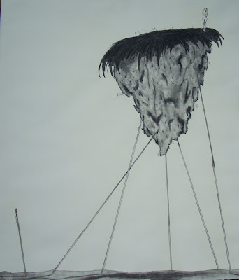 Woman Left Alone - Drawing by Campello