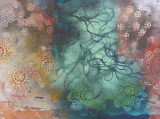 subsequently wind, mixed media on paper 2008 by Pat Goslee