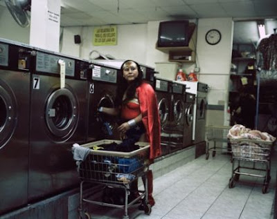 Maria Luisa Romero from the State of Puebla works in a Laundromat in Brooklyn, New York. She sends 150 dollars a week