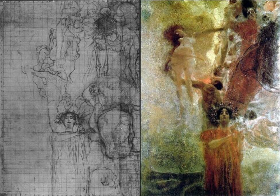 ไพ่ทาโรต์ Magician Draft sketch drawing gustav klimt Medicine tarot คลิมต์ กุสตาฟ