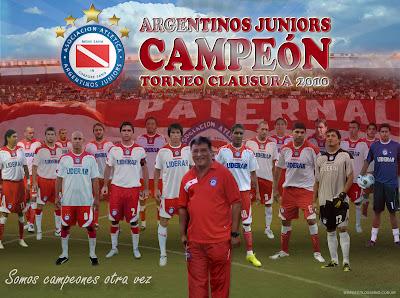 dos años de argentinos juniors campeon 2010