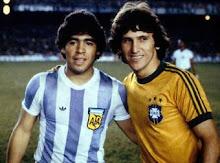 Maradona ( Argentina, 1977-1994) si Zico ( Brazilia, 1976-1988)