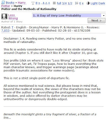 Harry Potter & the Methods of Rationality