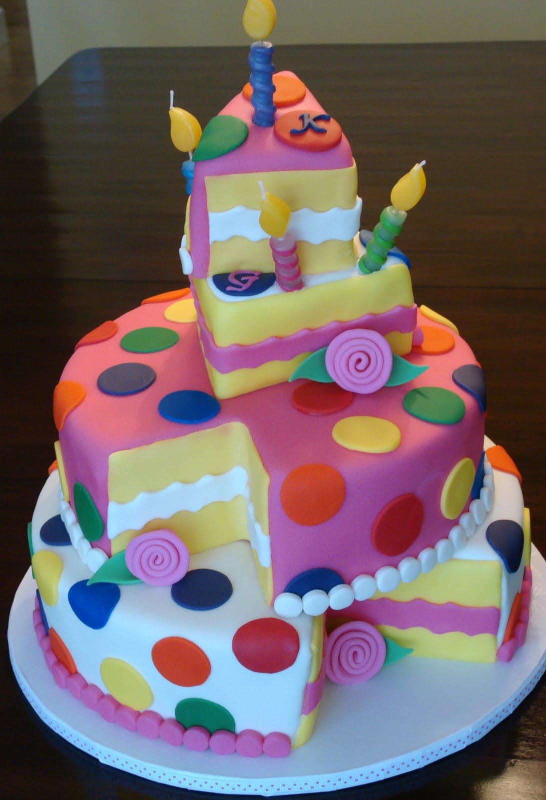 Cake Designs With Polka Dots : Debby s Cakes: Topsy Turvy Polka Dot Birthday