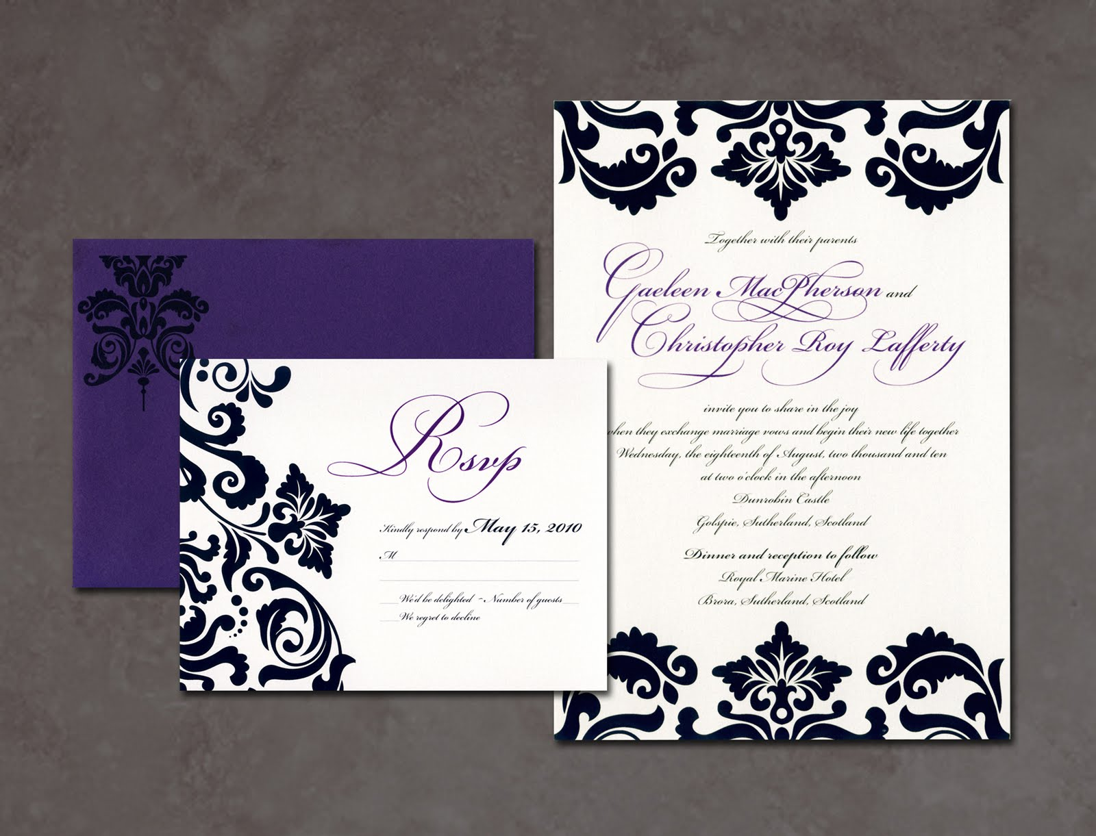 It\'s all Polkadots!: Recent Work :: Edmonton Wedding Invitations