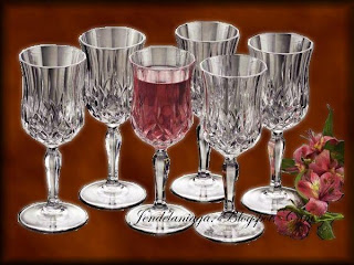 Opera Crystal Juice Glasses