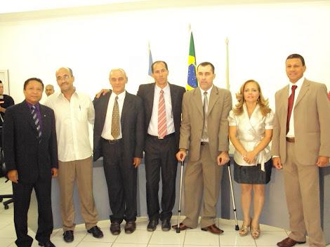 nova mesa diretora da camara tem o vereador joão de Deus como presidente para os bienos 2011 e 2012