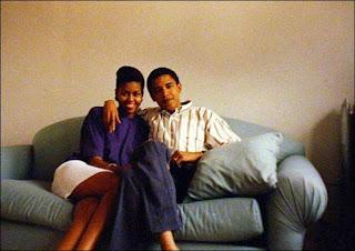 Michelle Robinson y Barack Obama