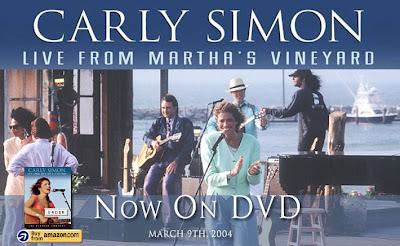DVP's POTPOURRI: CARLY SIMON: LIVE FROM MARTHA'S VINEYARD (1987 CONCERT) (DVD REVIEW)