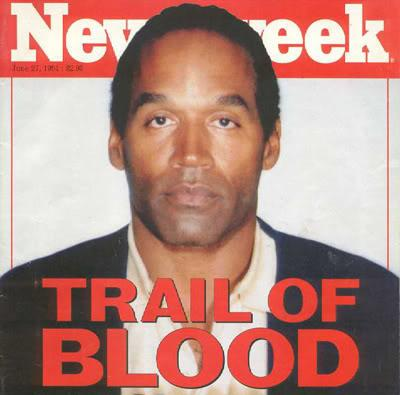newsweek magazine cover. THE 1995 O.J. SIMPSON