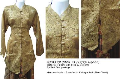 Size L: RM240 + P&P - KJ10 Kebaya Jadi Gold