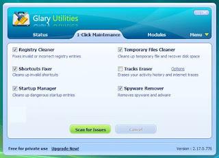 glary utilities Optimized Software software gratis terbaik untuk komputer anda