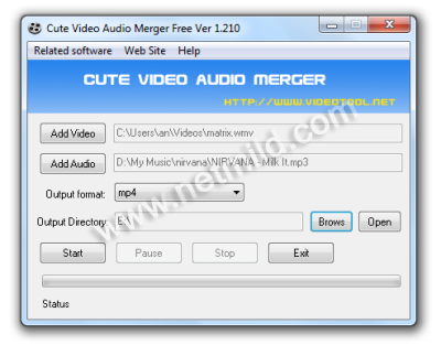 Merge Audio and video file