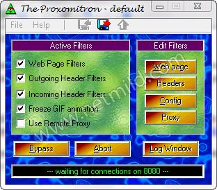 Proxomitron thumb Cara Block Iklan, Pop up, JavaScript pada Webpage
