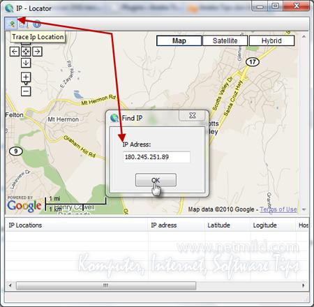 TraceIP Cara mencari IP Lokasi dengan IP Locator