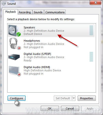configure Cara Setup Surround Sound pada Windows 7