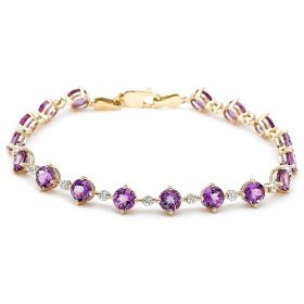 Yellow Gold Amethyst Bracelet