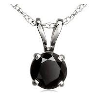 Black Round Diamond Pendant