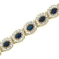 Diamond and 9 ct. Sapphire Bracelet
