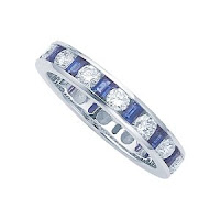 Genuine Sapphire Eternity Band by Karina B ring