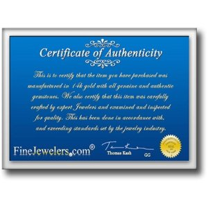 certificate ring shaphire