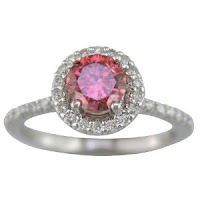 Cut Pink Engagement Ring