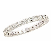 Prongs Diamond Eternity Wedding Ring