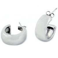 Sterling Jumbo Silver Hoop Earrings