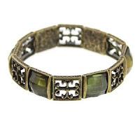 Gothic Cross Brass Tone Bracelet
