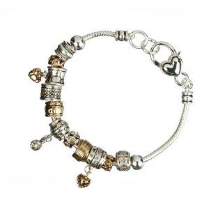 Heart Line Charm Bracelet