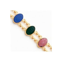 Stone Scarab Bracelet