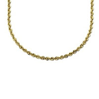 Cut Rope Chain Necklace