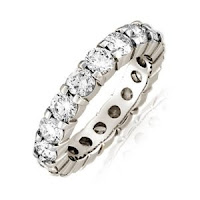 Prong-Set Diamond Eternity Band in Platinum Ring