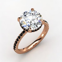 Rose Gold with Black Diamond Ring