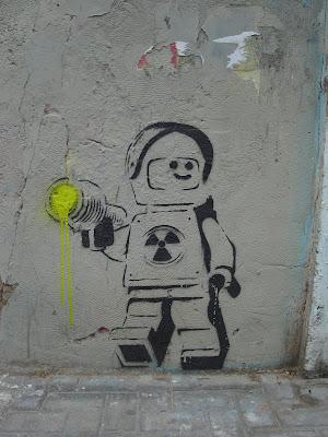 Street Art in Tel Aviv Lego Stencil