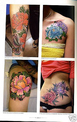 bomB$hell lifestyle: Japanese Tattoo Design Book - Flowers