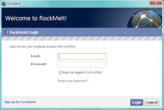 Rockmelt's look