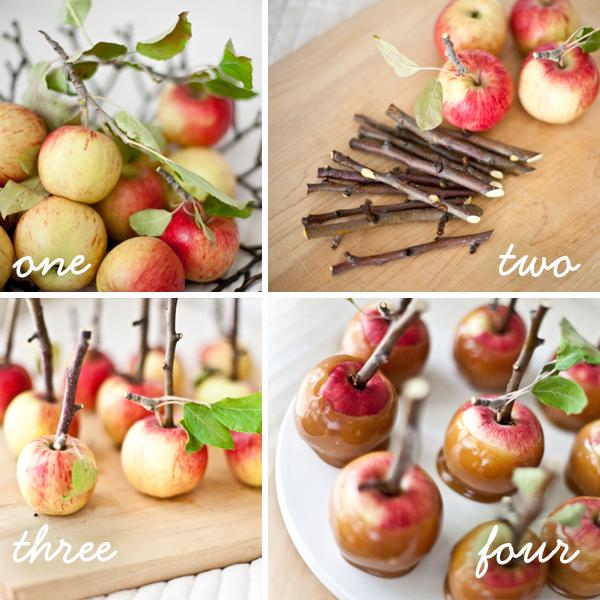 Day to Day Wonderments twig mini caramel apples