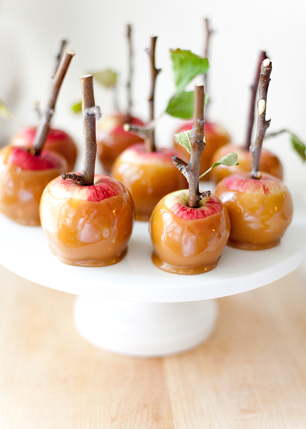 Oh the lovely things: Twig Mini Caramel Apples by Allyson Baker