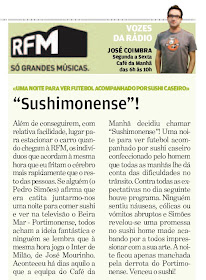"SUSHIMONENSE NO JORNAL ""DESTAK"""