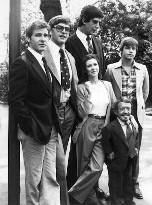 À paisana: Han Solo, Darth Vader, Chewbacca, Princesa Leia, R2D2 e Luke Skywalker