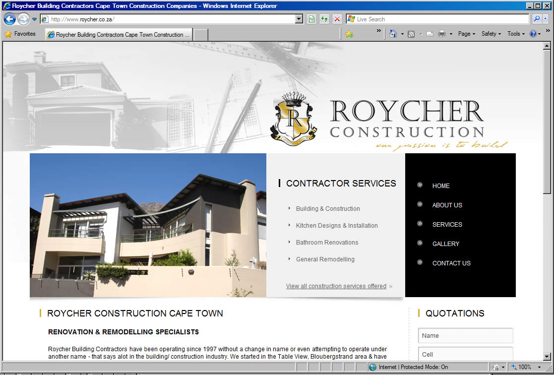 "Bathroom Renovations Durbanville building contractors cape town: roycher construction is ""renovated"""