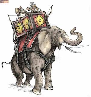 gajah perang, tentara gajah