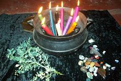 magia do pentagrama ,pedras,ervas e velas agora tudo junto