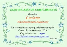 Certificado do 6° Desafio amigavel