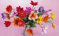 Букет цветов оригами