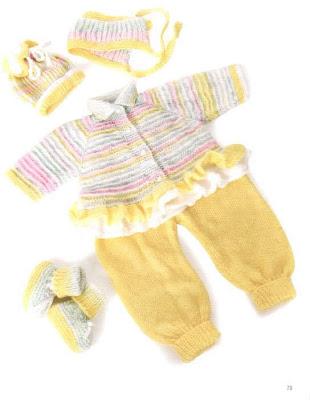 bebek örgü pantalon ve hırka yapımı